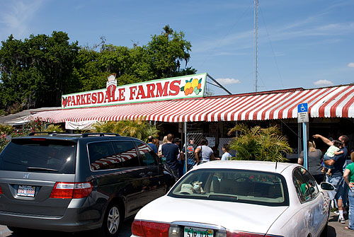 Parksdale Farms, home of the absurdly large strawberry shortcake.