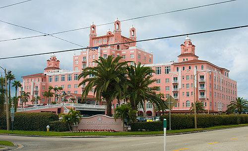 The salmon pink monstrosity that is the Don Cesar Resort.