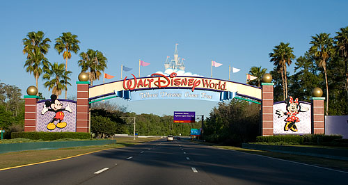 Driving into Disney World