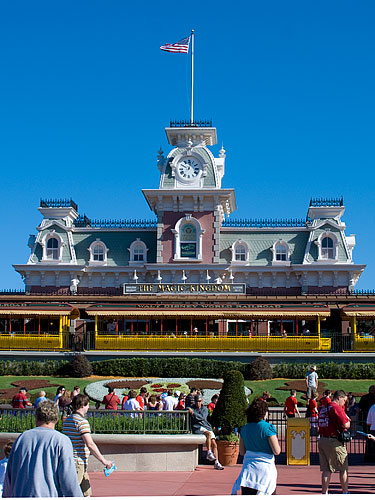 The front gate for Magic Kingdom