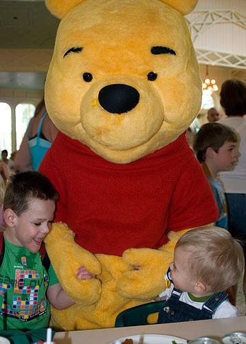 Kyle and Ian meet Winnie the Pooh