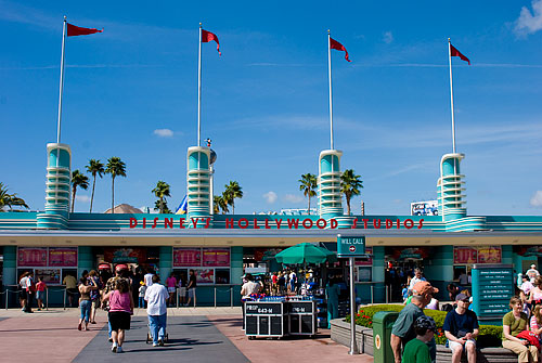 The entrance gate for Hollywood Studios