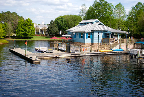 The dock at Port Orleans Riverside.