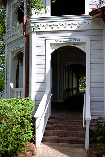 The passageway at the back of the main building