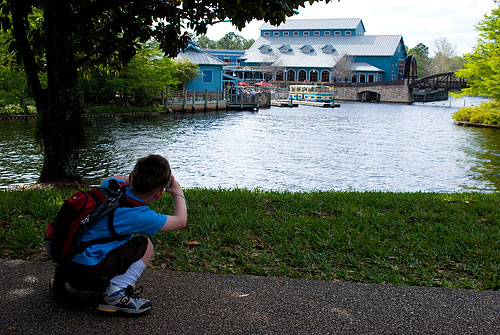 For the above photo I crouched down to frame the photo nicely. Kyle copied my every move, crouching down to get the same shot. My little photographer.