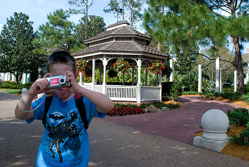 Well, I was *trying* to take a picture of the gazebo!