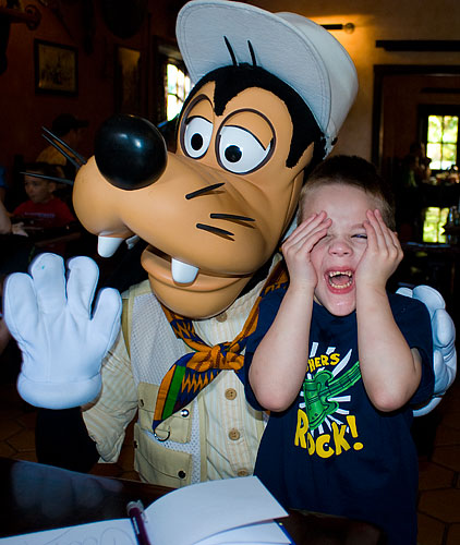 Goofy drops by