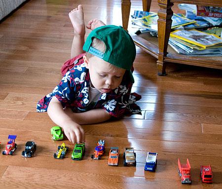 Ian parks some cars