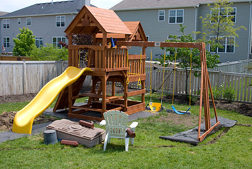 The completed playground