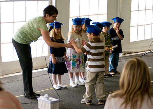 Kyle receives his diploma
