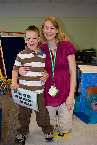 Kyle and his teacher, Ms. Nyah