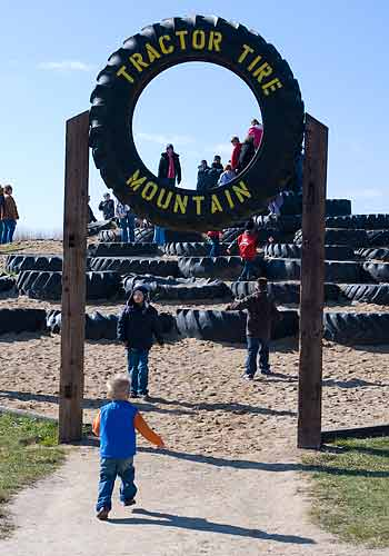 What's better than a tractor tire? A MOUNTAIN of tractor tires!