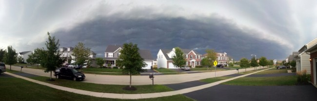 A panorama of the storm