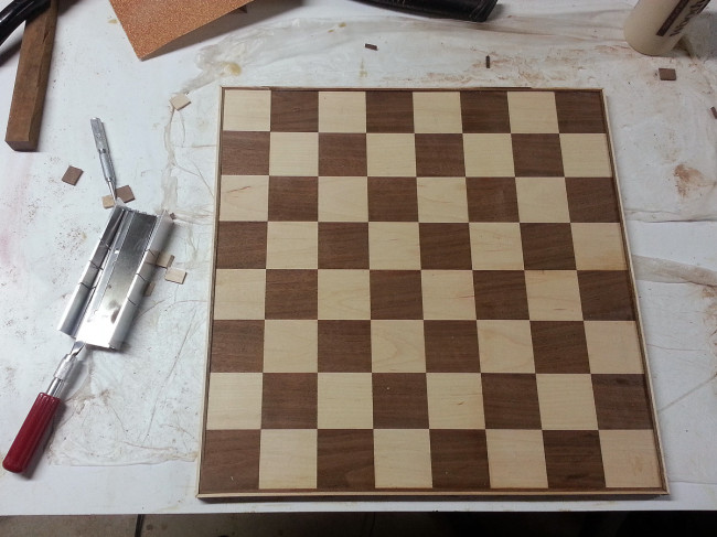 """1/8"""" edge banding in maple and walnut"""